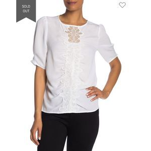 Laundry by Shelli Segal Lace Panel Top